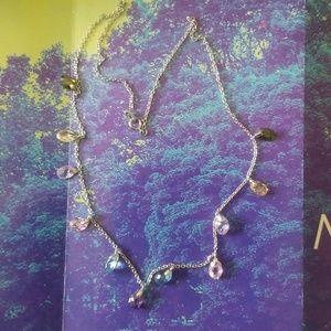 Jewelry - 14 K WG Multi Gemstone Necklace